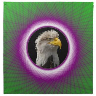 Ram för grönt för servett violett vävd fönsteroch