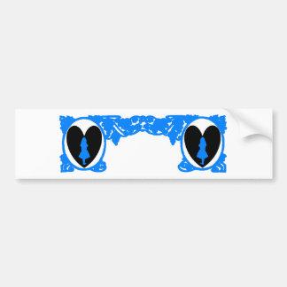Ram för kärlekAlice vintage i ljusa blått Bildekal