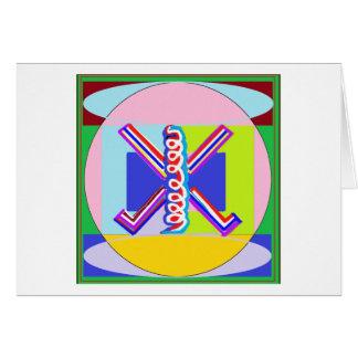 RAMA - Karuna REIKI som läker symbol Hälsningskort