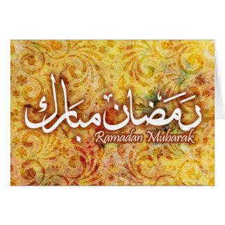 Ramadan Mubarak handgjort pappert islamiskt OBS Kort