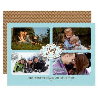 Ramar av fotoet för glädjehelgdag 4 12,7 x 17,8 cm inbjudningskort