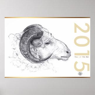 Ramma affischen för kinesisk Zodiac för året för Poster