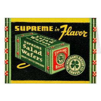 Rån för konst för vintagehötorgskonstMatchbook Hälsningskort