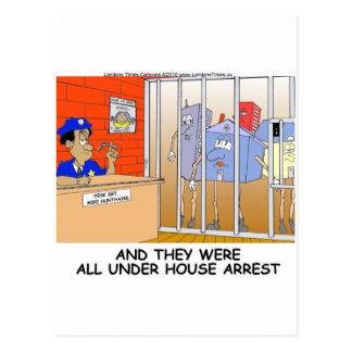 Rånar den roliga polisen för husgripande vykort