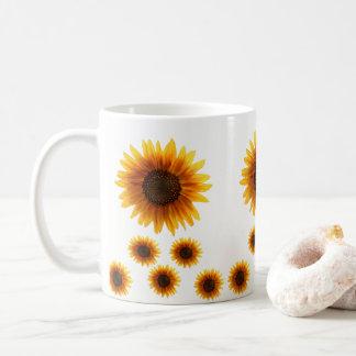 rånar solrosor kaffemugg