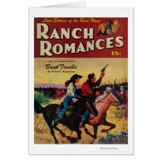 Ranchromantiktidskriften täcker hälsningskort