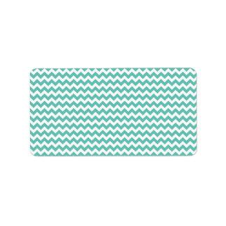 Rand för Aquablått- och vitsparre Adressetikett