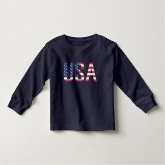 Rand för blått för stjärna för vit för USA T-shirts