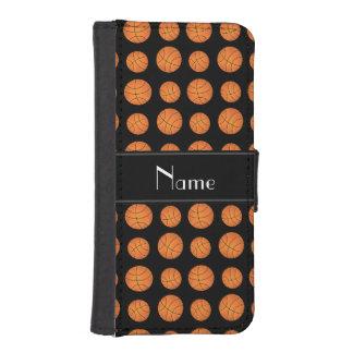 Rand för svart för basket för plånboksfodral för iPhone SE/5/5s