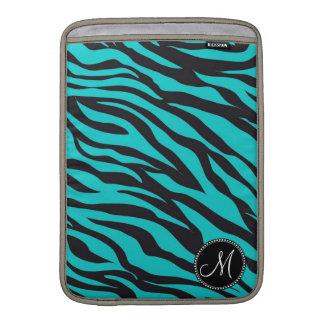 Rand för vild för zebra tryck för Monogramkrickasv MacBook Sleeves