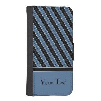Rand för vit för svart för anpassadetextblått iPhone SE/5/5s plånbok