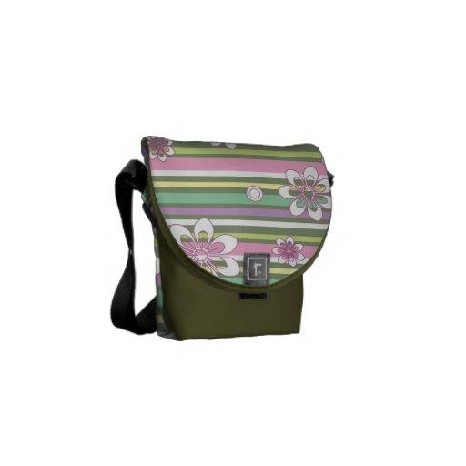 Randar & blommor kurir väska