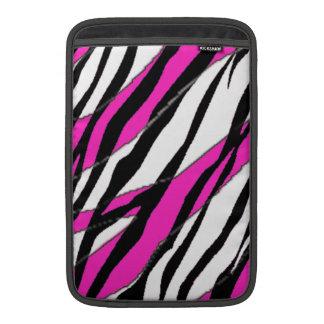 Randar för abstrakt för sebrarand- och neonrosor MacBook air sleeve