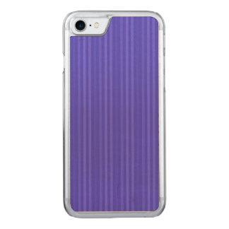 Randar för koboltblåttlodrät carved iPhone 7 skal