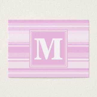 Randar för Monogrambebisrosor Set Av Breda Visitkort