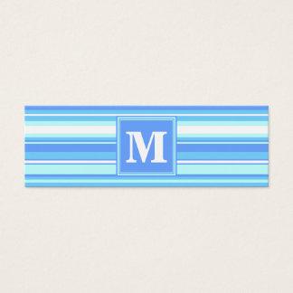 Randar för Monogramhimmelblått Litet Visitkort