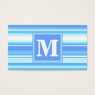 Randar för Monogramhimmelblått Visitkort