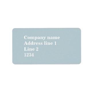 Randar för Monogramisblått Adressetikett