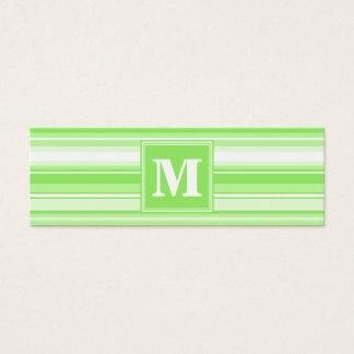 Randar för Monogramlimefruktgrönt Litet Visitkort