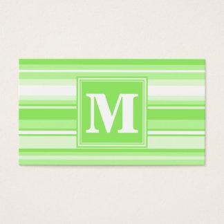 Randar för Monogramlimefruktgrönt Visitkort