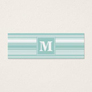 Randar för Monogrammintgrönt Litet Visitkort