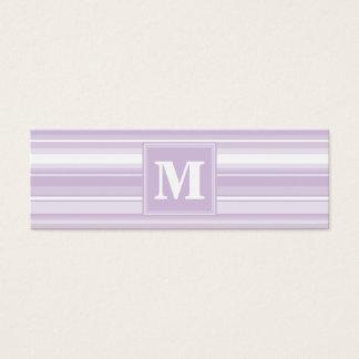 Randar för Monogramthistlelilor Litet Visitkort