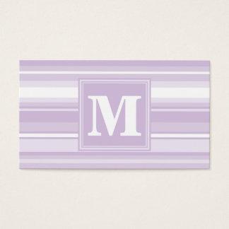 Randar för Monogramthistlelilor Visitkort