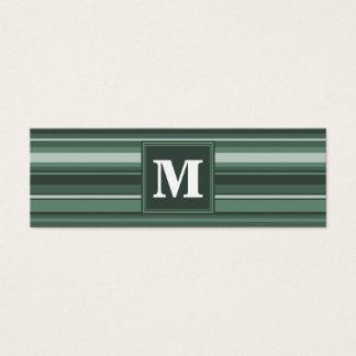 Randar för Monogramvis mangrönt Litet Visitkort