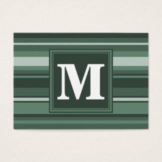 Randar för Monogramvis mangrönt Visitkort