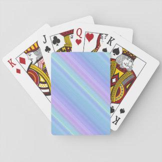 Randar för pastell för blåttlilagrönt som leker spelkort