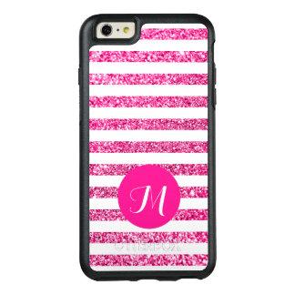 Randar för shock rosaglitterhorisontalgodis OtterBox iPhone 6/6s plus skal