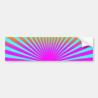 Randar för sol för resning för Corey tiger80-tal Bildekal