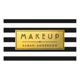Randar för svart för etikett för Makeuptypografi Set Av Standard Visitkort