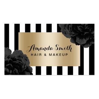 Randar för svart för salong för Makeupkonstnär Set Av Standard Visitkort