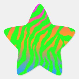 Randar för tiger för Corey tiger80-tal Stjärnformade Klistermärken
