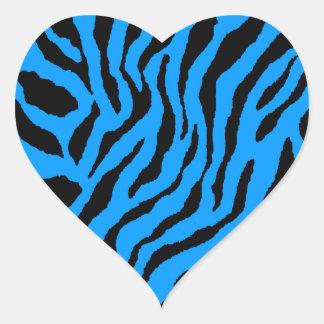 Randar för tiger för Corey tiger80-tal Hjärtformade Klistermärken