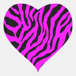 Randar för tiger för Corey tiger80-tal Hjärtklistermärken