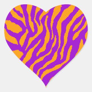 Randar för tiger för Corey tiger80-tal Hjärtformat Klistermärke