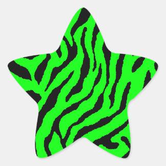 Randar för tiger för Corey tiger80-tal Stjärnformat Klistermärke