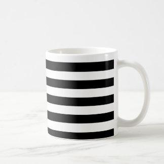 Randar för vit för PixDezines DIY färg justerbara Kaffemugg