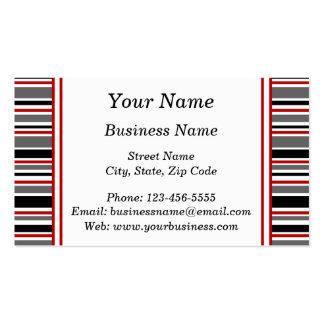 Randar i svart och rött set av standard visitkort