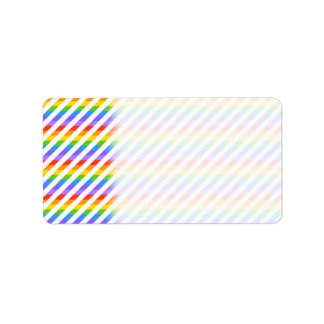 Randar med regnbågefärger adressetikett