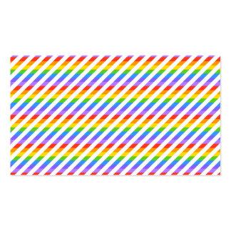Randar med regnbågefärger set av standard visitkort