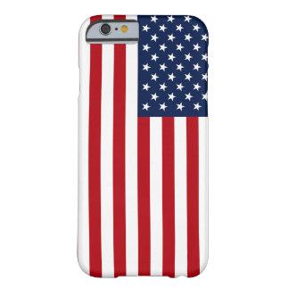 Randig amerikanska flaggan för lodrät barely there iPhone 6 fodral