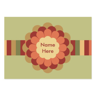 Randig band- & blommapilbåge set av breda visitkort