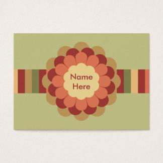Randig band- & blommapilbåge visitkort