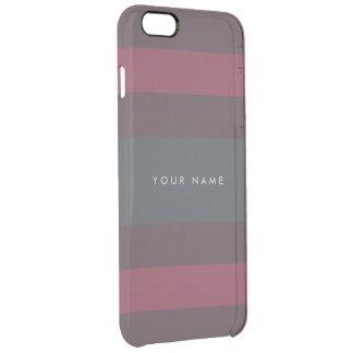 Randig bär- & Petrolanpassningsbar Clear iPhone 6 Plus Skal