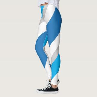 Randig damasker 1 för blått/för grå färg leggings