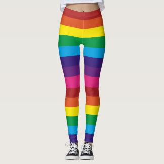 Randig damasker för regnbåge leggings