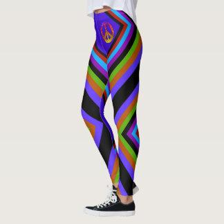 Randig fred för färg leggings
